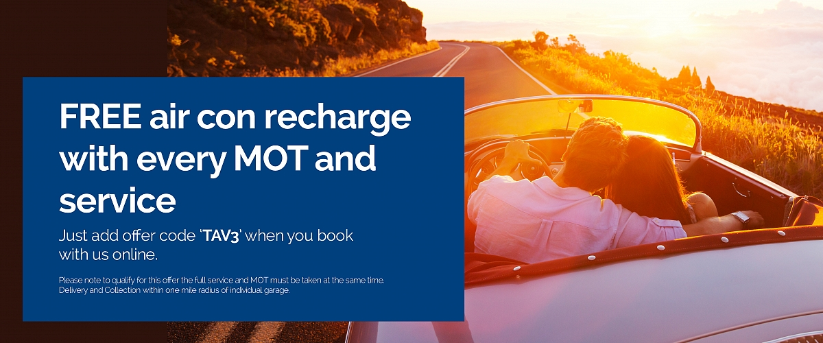 Free air con recharge with every MOT and service